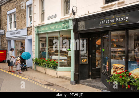 , three Cornish pastie shops next to each other - Stock Image