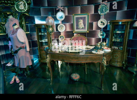 The Office of Delores Umbridge, at the  Making of Harry Potter Tour, Leavesdon - Stock Image