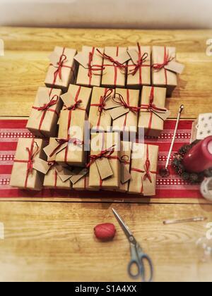 Christmas presents - Stock Image