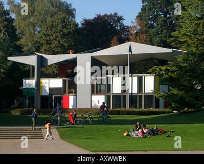 Switzerland Zuerich Corbusier house near lake Zurich - Stock Image