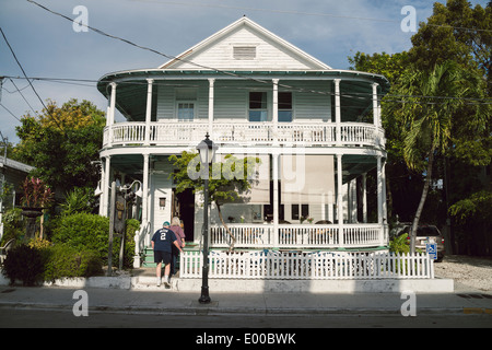 The Grand Vin, wine shop and bar, in Key West, Florida. - Stock Image