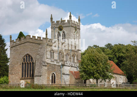 St Peter's Church in Wootton Wawen the oldest church in Warwickshire dating back to the 8th Century known as - Stock Image