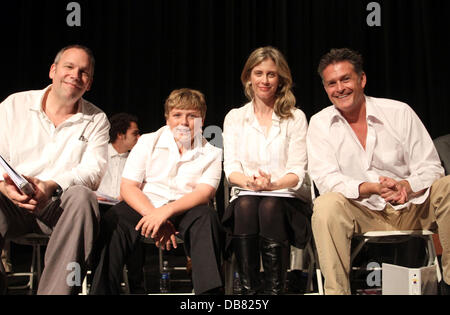 Robert Watzke, Zane Amundsen, Helen Slater and David Humphrey 'The Road To Freedom' live audience stage - Stock Image