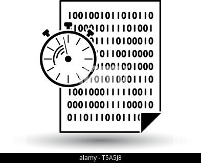 Fast Development Icon. Black on White Background With Shadow. Vector Illustration. - Stock Image