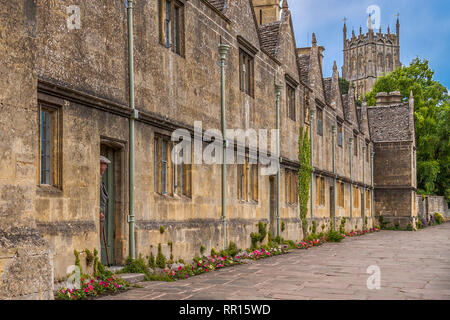 Watcher In The Doorway, Chipping Campden, Gloucestershire, England, UK - Stock Image