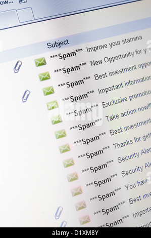 Spam emails - Stock Image