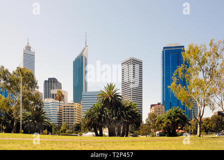 View at the financial district of midtown Perth in Australia - Stock Image