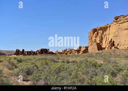 Pueblo Bonito, Chaco Canyon, Chaco Culture National Historical Park, New Mexico, USA 180926_69503 - Stock Image