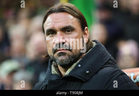 Norwich City manager Daniel Farke before the game. - Stock Image
