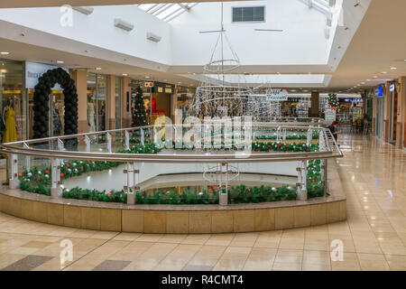Christmas decorations in the Brooklyn mall shopping center, Pretoria, South Africa - Stock Image