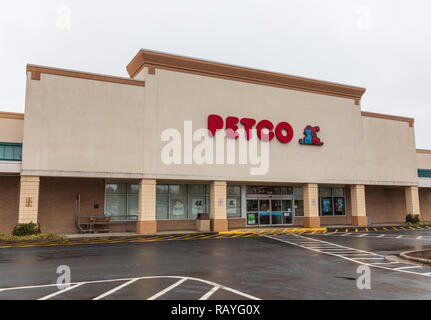 HICKORY, NC, USA-1/3/19: Petco is a US chain retailer of pet food, supplies and services. - Stock Image
