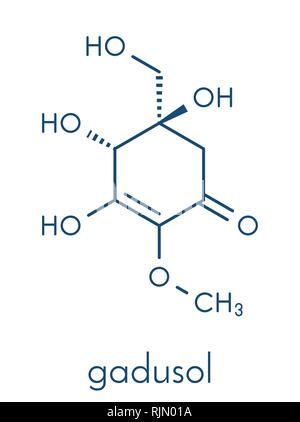 Gadusol fish sunscreen molecule. Skeletal formula. - Stock Image