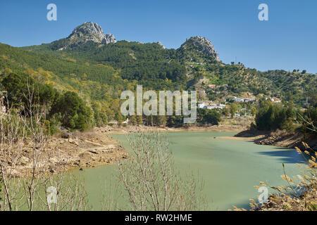 River Guadalhorce at El Chorro. Málaga, Spain. - Stock Image