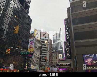 Broadway in New York City - Stock Image
