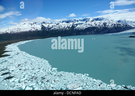 Aerial view of Inner Lake George near Anchorage, Alaska - Stock Image