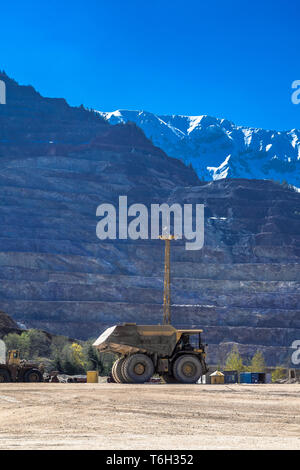 Heavy Truck At Open Cast Ore Mine - Stock Image
