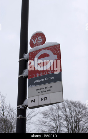 Bus stop sign - Stock Image