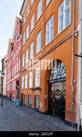 The Danish writer Hans Christian Andersen lived at 3 addresses in Nyhavn, Copenhagen,  from 1834 to 1875. Latest - Stock Image
