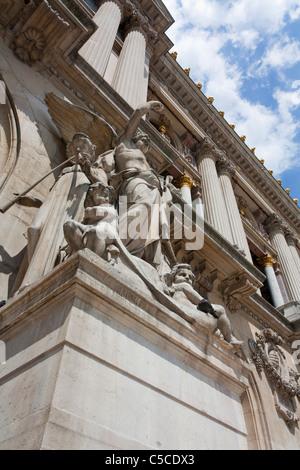Front of the Opera Garnier,Paris,France - Stock Image