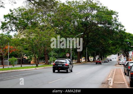 W3 North Avenue Brasilia Brazil South America - Stock Image