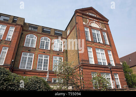 Flats or appartments in Wollaton House an old ,Victorian board school conversion in Richie Street, London Borough of Islington - Stock Image