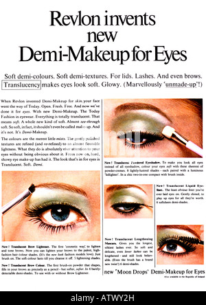1960s Nova Magazine October 1968 Advertisement for Revlon Eye Makeup Make-up Make Up  FOR EDITORIAL USE ONLY - Stock Image