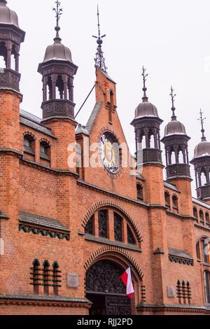 Hala Targowa, Market Hall, 19th century, Eclectic style, Gdańsk, Poland - Stock Image