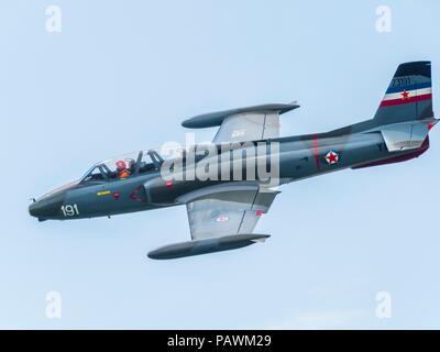 Ex Yugoslav jet trainer aircraft G2 Galeb - Stock Image