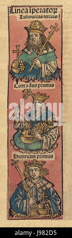 Nuremberg chronicles f 174r 2 - Stock Image
