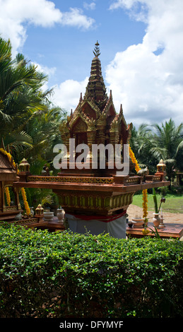 Spirit House located in rural Thailand. - Stock Image