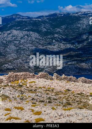 Island Pag in Croatia near Zigljan - Stock Image