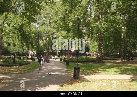 Gardens at Russell Square Bloomsbury London - Stock Image
