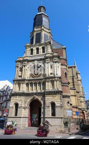 Notre-dame De Bon Secours Church in Trouville-sur-mer, France - Stock Image