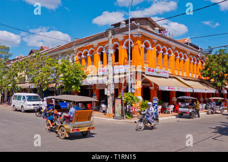 Corner of Street 8 and Street 2 Thnou, old town, Siem Reap, Cambodia, Asia - Stock Image