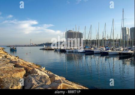 Tel Aviv Marina, Israel - Stock Image