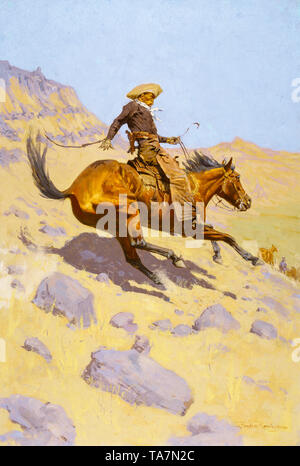 Frederic Remington, The Cowboy, painting, 1902 - Stock Image