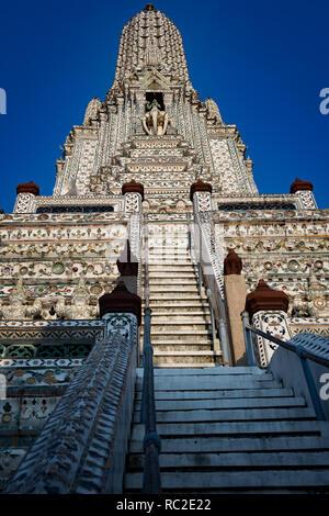 Detail of Wat Po Temple, Bangkok, Thailand - Stock Image