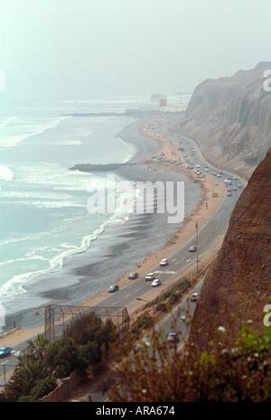 Sea Front, Lima, Peru - Stock Image