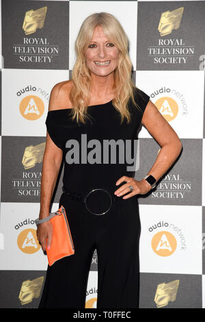 LONDON, UK. March 19, 2019: Gaby Roslin arriving for the Royal Television Society Awards 2019 at the Grosvenor House Hotel, London. Picture: Steve Vas/Featureflash Credit: Paul Smith/Alamy Live News - Stock Image