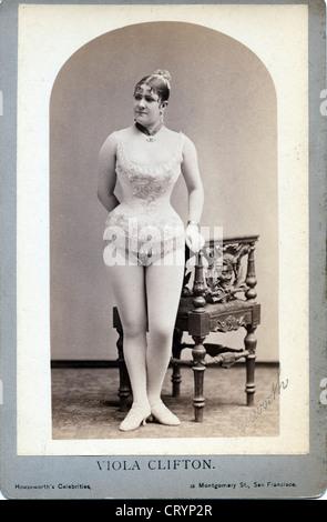 Viola Clifton, c1890, by Thomas Houseworth - Stock Image