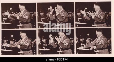 Adolf Hitler 8/11/1942. speech rally  Fuhrer Chancellor Nazi Party Austria Germany Reichstag Mein Kampf  Munich - Stock Image