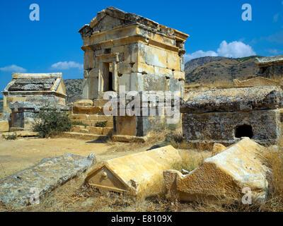 The Necropolis of Hierapolis - Stock Image