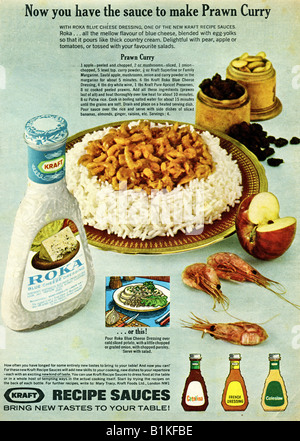 1965 Magazine Advertisement for Kraft Foods Recipe Sauces FOR EDITORIAL USE ONLY - Stock Image
