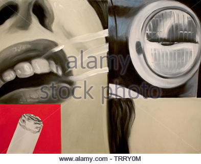Smoked glass by James Rosenquist 1933 American United States of America - Stock Image