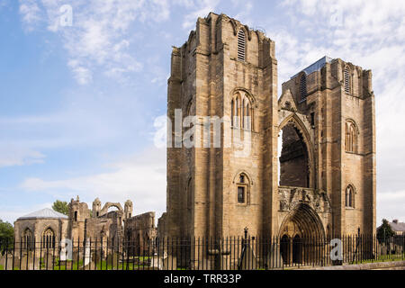 13th century Gothic Cathedral ruins in Elgin, Moray, Scotland, UK, Britain - Stock Image