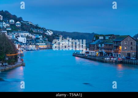 East Looe Rive, Looe, Cornwall, England, United Kingdom, Europe - Stock Image