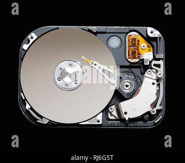 Hard drive removed from a computer. - Stock Image