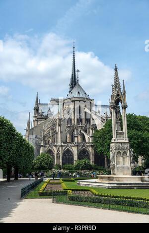 Notre Dame, Paris, France - Stock Image