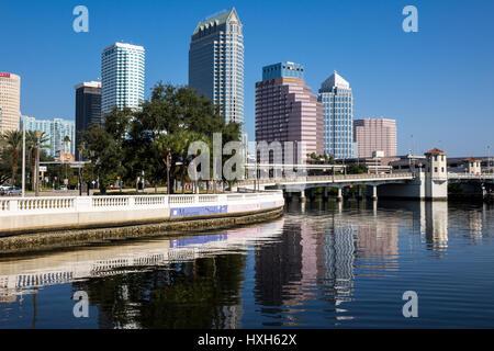 Tampa skyline skyscrapers, Florida, USA - Stock Image