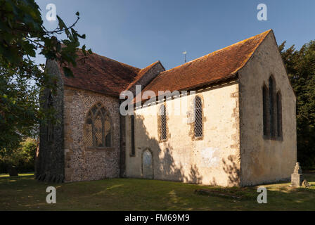 Church of St Mary the Virgin North Stoke West Sussex - Stock Image